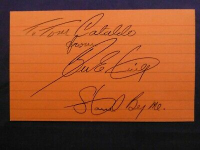 Ben E. King Signed Index Card with COA