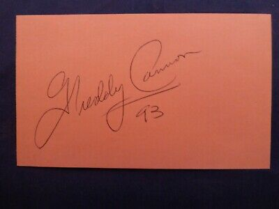 Freddy Cannon Signed Index Card with COA