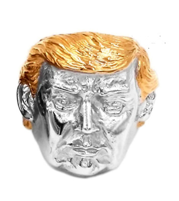 Men- President-Donald Trump-Ring- Gold & Silver-Stainless Steel- Size 7-15