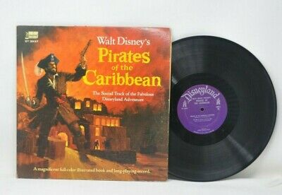 Disney Pirates of the Caribbean Ride Soundtrack Booklet 1968 ST 3937 Record LP