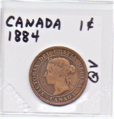 Canada 1 Cent Coin 1884 Queen Victoria As Pictured