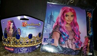 DISNEY EVIE DESCENDANTS Heart Crown Necklace and Gloves