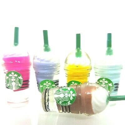 Doll House Acc 1:12th Miniature - 2 Mini Starbucks Drinking Containers Set 1