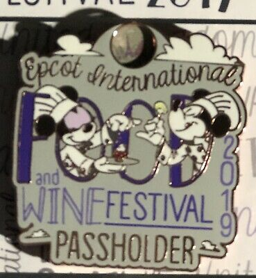 Disney Parks Epcot Food And Wine Festival 2019 Passholder EXCLUSIVE Pin  in hand