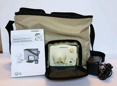 Medela Advanced Personal Double Electric Breast Pump with Tote & Power Adapter