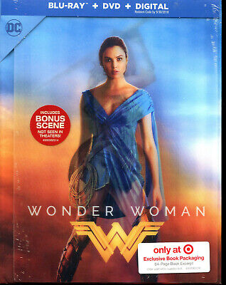 Wonder Woman Target Exclusive Ultra Rare Lenticular DigiBook Blu-ray+DVD