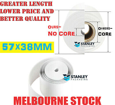 Thermal Paper Rolls 57x38mm Cash Register Receipt Roll Eftpos OZ Premium