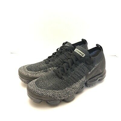 Nike Air Vapormax Flyknit 2 Black Dark Grey Anthracite Mens Size 12.5 942842-012