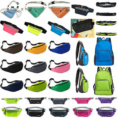 Bum Bag Travel Waist Money Belt Pouch Wallet Running Chest Hip Sports Fanny Pack