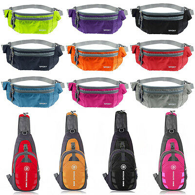 Fanny Pack Bum Bag Hiking Chest Waist Belt Pouch Running Sports Holiday Wallet