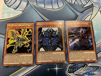 Yugioh Egyptian Gods Prismatic Secret Rare Slifer Obelisk Winged Dragon of Ra