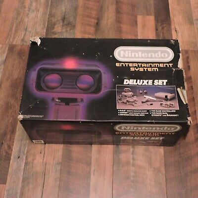 NES Deluxe Set Box Nintendo Entertainment System ROB the Robot System Box Only