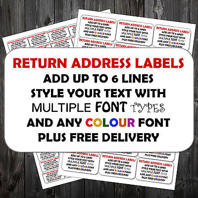 Pre Printed Mini Labels White Address Labels Personalised Self Adhesive