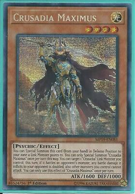 Yugioh MP19-EN081 Crusadia Maximus Prismatic Secret Rare Near Mint 1st Edition