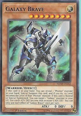 3x Yugioh MP19-EN162 Galaxy Brave Common Near Mint 1st Edition