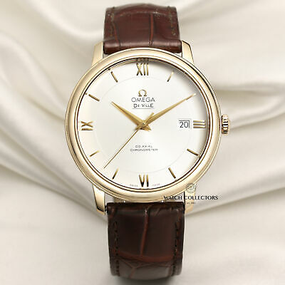 Omega De Ville Co-Axial 424.53.40.20.02.002 18k Yellow Gold