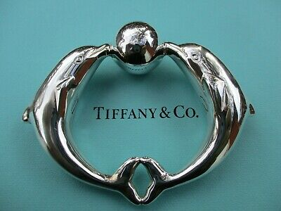 100% Genuine Tiffany & Co dophin baby rattle - sterling silver