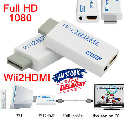 Wii HDMI Adapter 1080p HD to Converter Video Output 3.5mm Audio