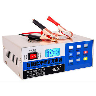 12V/24V 200AH Electric Car Battery Charger Automatic Intelligent Pulse RepairX1F