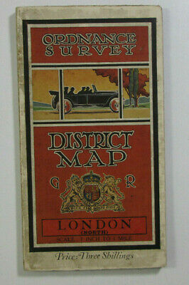 1912 Old OS Ordnance Survey One-Inch Third Edition District Map London North