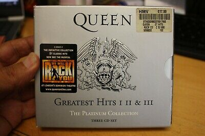 Queen - Platinum Collection - Greatest Hits I, Ii & Iii. 3 Cd Set + 40 Page Book