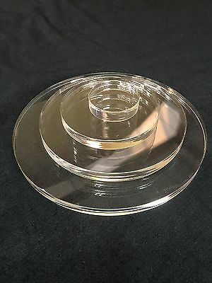 CLEAR PERSPEX ACRYLIC CIRCLE ROUND DISC 12mm THICK