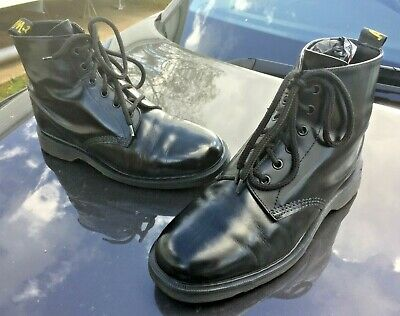 Dr Martens 101 black leather boots UK 8 EU 42 Made in England