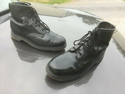 Dr Martens 101 black leather boots UK 10 EU 45 Made in England