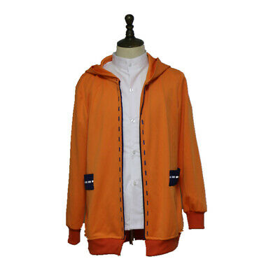 Kakegurui Yomoduki Runa Girl Cosplay Costume Hoodie  Orange Coat Custom Made New