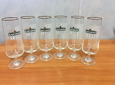 Lot of six Karlsberg UR-PILS -  400ml Beer Glasses