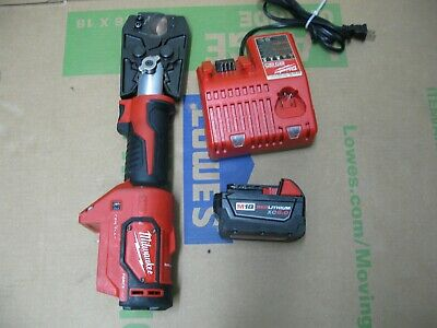 Milwaukee 2679-20 M18 18 V 6 Ton Force Logic Crimper Tool - 5 Ah Battery