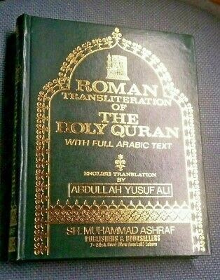 Roman Transliteration-The Holy Quran (Ara/Eng/Trans.)A. Y. Ali-Hard Cover