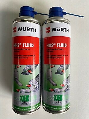 *****2 X 500Ml Würth Hhs Fluid Grease Resistant To Centrifugal Force****