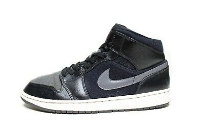 NIKE AIR JORDAN 1 I Premium Sneakers, Black Gray WInter