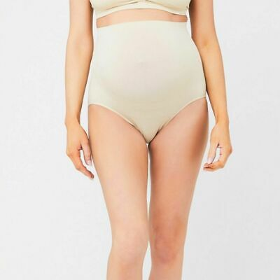 NEW Ripe Maternity High Waisted Seamless Briefs - Natural