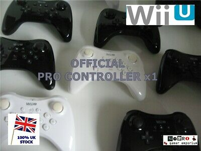 Official GENUINE NINTENDO Wireless Nintendo Wii U Pro Controller - black / white