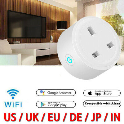 WiFi Smart Plug Socket APP Remote Voice Control Timing Google Home Alexa Outlet