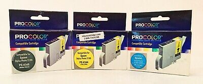 ProColor Compatible With Epson Stylus Photo 2100 Ink Cartridge Lot of 3 *NEW*