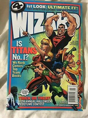Wizard The Comics Magazine Nov 2003 No.145 Comics Guide Cover 1 Of 3 Collectible