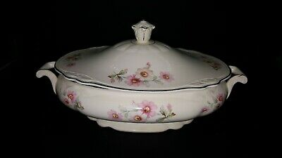 Homer Laughlin Virginia Rose Oval Covered Casserole JJ59
