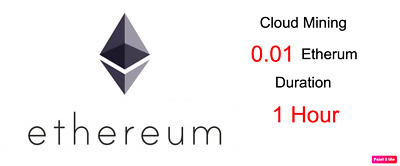 At least 0.01 Etherum 1 hours Etherum ETH Cryptocurrency mining contract