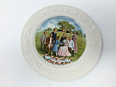 Mothers Day With Theodore Roosevelt & Family 1915 Vintage Souvenir Plate Signed