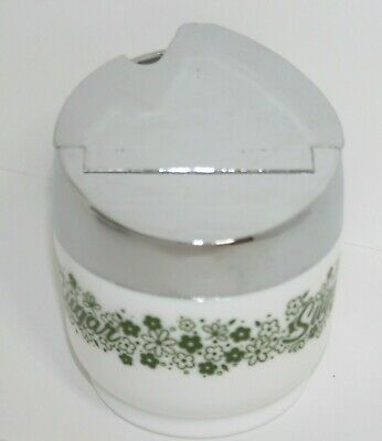 Vintage Gemco Spring Blossom Crazy Daisy Pyrex Corning Compatible Sugar Bowl