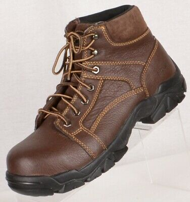 BUFFALINO RALEIGH MEN Leather Steel Toe Work Boots Size US