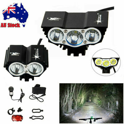 20000LM 3X 2X  T6 LED SolarStorm Bicycle Headlight Bike Front Headlamp Battery