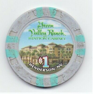 Green Valley Ranch Hotel Casino Henderson NV 1 Dollar Gaming Chip As Pictured