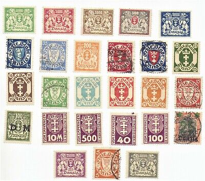 Danzig nice lot of mint and used 26 stamps lot 1 as pictured