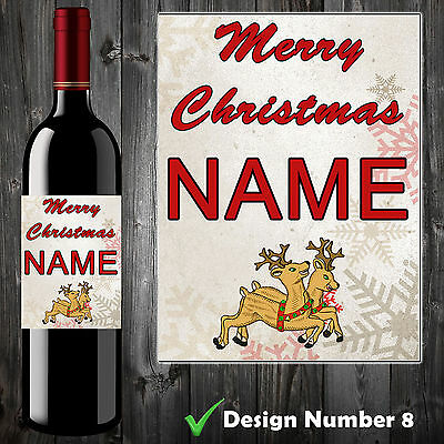 Personalised Wine Champagne Label Aunt Nan Her Teacher Christmas Gift Xmas