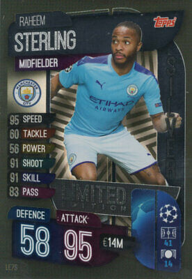 Match Attax 2019/20 19/20 Raheem Sterling Silver Limited Edition Trading Card