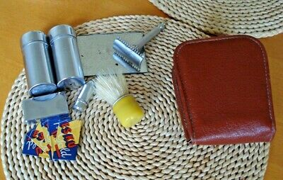 Razor DE travel kit , vintage/antique Safety Razor  travel set